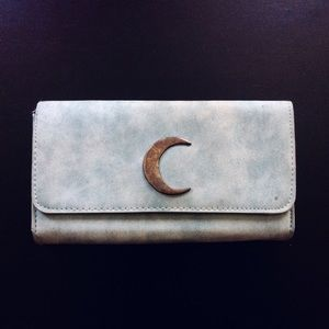 ⭐3/$25⭐ Marbled Blue & Brass Moon Wallet